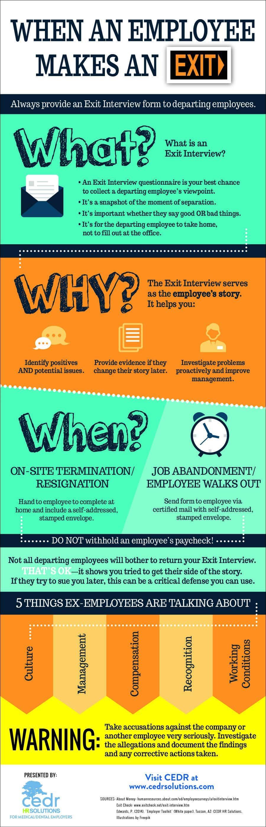 Exit Interview Infographic
