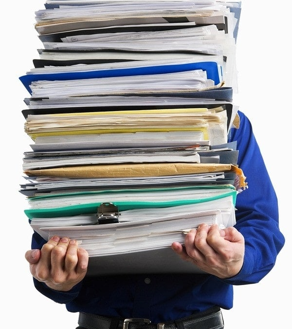 Document stack to be filled out