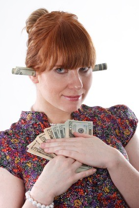 woman with a generous bonus system