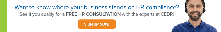 Want to know where your business stands on HR compliance? Click to schedule a free consultation.