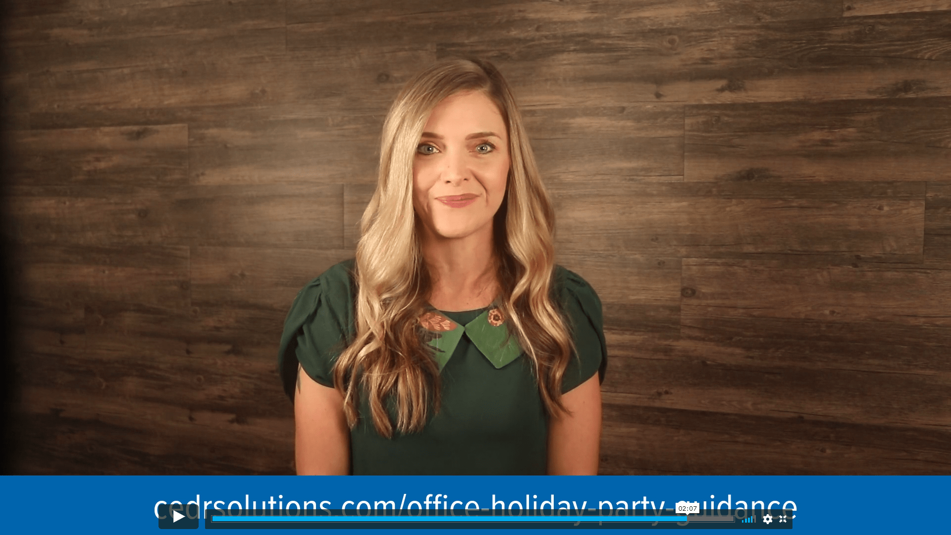 CEDR Solution Center Advisor Tiana Starke offer holiday party guidance
