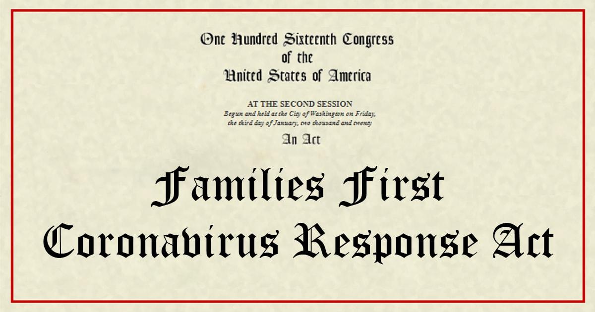 Families First Coronavirus Response Act Guidance