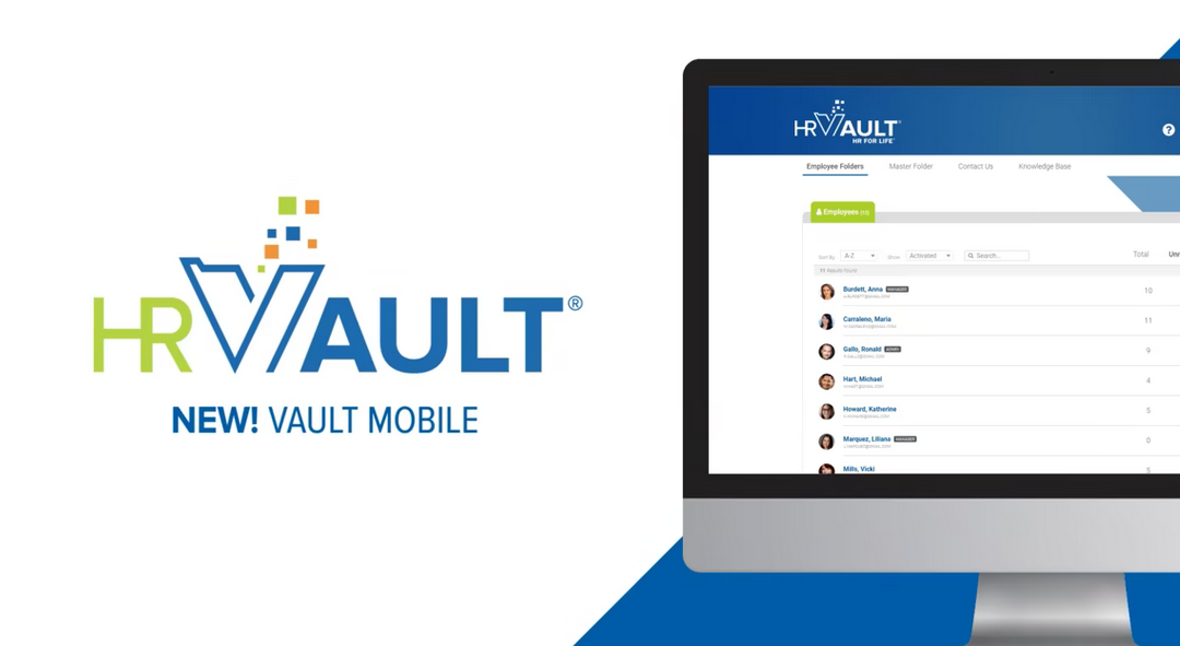 New Mobile Interface For HR Vault